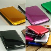 مستطيل لامع Cardcase سبائك الألومنيوم البلاستيك متعدد الألوان مربع ناقل بنك بطاقة الأعمال حامل الأزياء الساخن بيع 1 59YG G2