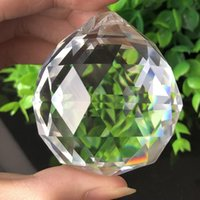 50mm feng shui pendurado corte de vidro esfera esfera prismas suncatcher pingente diy pendurado ornamento candelabro parte h bbyqgw