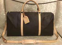 2021 Hakiki Deri Avrupa Bagaj Çanta High-end Çanta Moda Tasarım Çift Omuz Çantası Hakiki Deri Kadın Çanta 55 cm