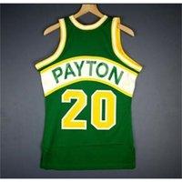 604 Gençlik Kadın Vintage Gary Payton Mitchell Ness 94 95 Kolej Basketbol Forması Boyutu S-4XL veya Özel Herhangi Bir Ad veya Numara Forması