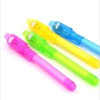 Caneta de luz invisível UV LED, Multi-função Magia Detecção Plástico Grande Cabeça Fluorescente Caneta. Multi função caneta.