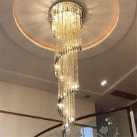 الحديثة الثريا الإضاءة درج دخان رمادي كريستال مصباح لولبية تصميم الديكور المنزلي الإضاءة AC 90-260V