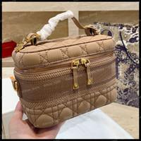 Bolso de maquillaje Mujeres lujosas diseñadores bolsas bolsa de maquillaje bolsa de viaje caja de cosméticos cosméticos bolsos bolsos de hombro de bolsas de equipaje tomar un bolso de maquillaje agradable