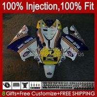 Injection pour Honda NSR250 R NSR250R MC28 94 95 96 1997 1998 1999 1999 102HC.91 Blue Jaune NSR 250 R PGM4 250R 1994 1995 1996 97 98 99 Catériel