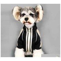 Bahar Güz Bağbozumu Evcil Hayvanlar Ceketler Moda Mektup Baskılı Schnauzer Coat Festivali Hediye Bulldog Trendy Hoodies H48L1