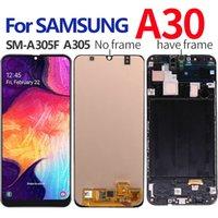 AMOLED / OLED / Hücre İçi Suya Samsung Galaxy A30 LCD Ekran SM-A305F A305F LCD Ekran Dokunmatik Ekran Sayısallaştırıcı Meclisi için