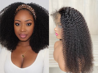 Natural Color Lace Front Wigs Kinky Curly Human Hair Brazili...