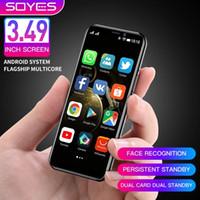 فول الهواتف الذكية مصغرة مقفلة SOYES S10-H دعم Google Play Store 64GB ROM Android 9.0 بطاقة مزدوجة LTE 4G طالب الهاتف المحمول التعرف على الوجه