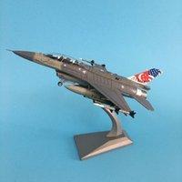 Jason Tutu Avião Avião Modelo 1: 100 F16 Singapura Fighter Brinquedo para Coleção Avião Liga Modelo Diecast 1: 100 Planos de Metal T200727