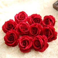 Haute qualité! Fleurs artificielles Fleur de soie Têtes de fleur Rose Fleur De Mariage Décoration DIY Scrapbooking Fleurs Cadeaux Fournitures à la maison T200703