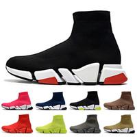 2021 أحذية جديدة Holllow القيعان الأسود الأحمر النساء الرجال سوك Luxurys المصممين الاحذية Tripler متعطل سوك المدربين حذاء رياضة النسائية والأحذية