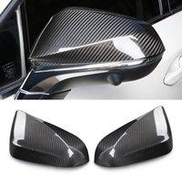 Für Lexus NX 2014-2020 Kohlefaser-Autozubehör Seitiger Rückspiegeldeckel-Rahmen-Aufkleber-Trim-Top-Hälfte-Hälfte-Gehäuse-Kappe