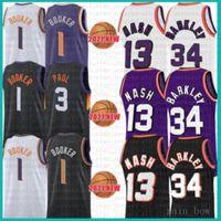 2021 NOUVEAU Devin 1 Booker 1 Basket Basketball Jersey Chris Mens 3 Paul Mesh Retro Steve 13 Nash pas cher Charles 34 Barkley Youth Kids Multi