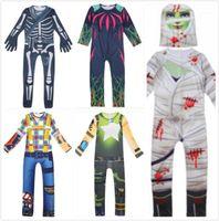 Costume Thème Kids Halloween Jeu Fortress Night Jumpsuit Série Zombie Momie Carnaval Squelette Boys and Girls Fancy Dress1