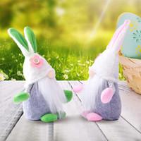 US-amerikanische Großgut-Großhandels-Ostern-Häschen-Gnome Frühling Ferien-Home-Dekoration Plüsch handgefertigten Kaninchen Schwedisch Tomte Elf Ornament Geschenke