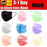 Disposable Face Masks Black Pink White with Elastic Ear Loop...