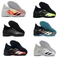 Sıcak Erkek Yüksek Ayak Bileği Çizmeler Futbol Ayakkabı Predator Mutator 20.3 TF Kapalı Deri Laksız Eğitmenler Çim Çorap Futbol Kelepleri ABD 6.5-11
