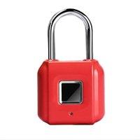 New model Keyless USB Rechargeable Door Lock Fingerprint Smart Padlock Quick Unlock Zinc alloy Metal Self Developing Chip