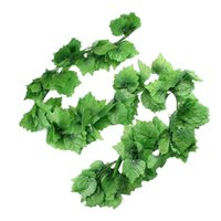 Belle simulation fleurs décoratives artificielles vert grillage des feuilles de raisin pour la décoration de fête de la décoration murale domestique
