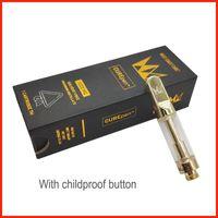 Carepen Vape Carts Packaging 0.8ml West Coast Coast Cure Vape Pen Gold TH210 Vaporizzatore per 510 cartucce Spessa serbatoio dell'olio con 12 sapori