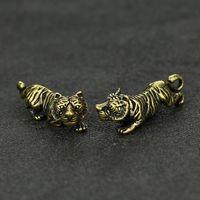 2pics   Tibetan   Tibet   Nepal Tiger Scultura animali Stato figure Ornamenti grande gatto