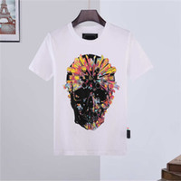 21SS Fashion Summer Mens femmes Tshirt 2021 Sleeve Sleeve Coton Diamant imprimé Phillip Plain Men t-shirts