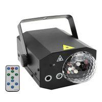 16 patrones La-ser proyector RGB Etapa Light Disco LED Magic Ball Party Lights Sounns Active Music Center Lámpara estroboscópica con control remoto para casa