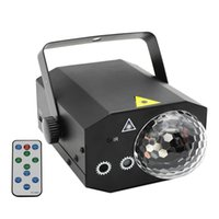 16 Узоры La-Ser Projector RGB Stage Light Disco LED Magic Ball Party Lights Souns Active Music Center Strobe Lamp с пультом для дома Мы