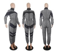 Hooded Jumpsuit for Yoga Sports Overalls Women Tracksuit Spo...