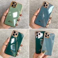 Plating case fot iPhone 12 Mini 11 Pro Max X XS XR 8 7 65 Plus Back Protector Protector Cover