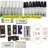Özelleştirilmiş Ambalaj Kutusu Özelleştirilmiş E-Sigara Kalın Yağ Vape Kartuşları Özel Logo Ambalaj Childproof Preroll Blister Ambalaj Tüpü