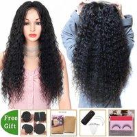 pelucas al por mayor del encierro del cordón peluca 4x4 onda profunda de la peluca del frente del cordón humana brasileña pelucas de pelo para las mujeres negras no Remy