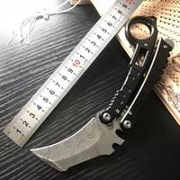 나비 발톱 칼 karambit 블레이드 재료 5cr13mov 스틸 핸들 OUTDOORS 연습 전투 트레이너 생존 칼 도구