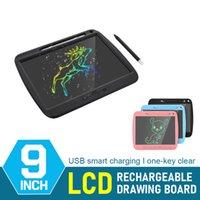 Bir Anahtar Temizle El Yazısı Tablet 9 inç USB Akıllı Sharing LCD Dijital Çizim Kurulu Çocuklar ve Yetişkinler için Elektronik Yazma Pedi
