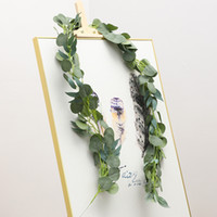 Guirnalda de eucalipto artificial con hojas de sauce 6.5 pies Fake vegetal Vides Ivy Boda Decoración del hogar JK2101PH