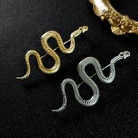 NOUVEAU Mode Design Broche en forme de serpent Broche en argent Broches Snake Personnalité Style Hommes et Femmes Accessoires Broche Bijoux