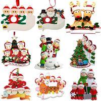 Новые рождественские украшения персонализированных Survivor Карантинные Семейный 2 3 4 5 6 Маска снеговика рук санированном Xmas Декорирование Творческие Подвесные игрушки