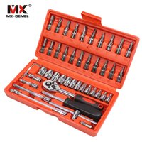 MX-Demel 자동차 수리 도구 46pcs 1 / 4 인치 소켓 세트 자동차 수리 도구 래칫 토크 렌치 콤보 도구 키트 자동 복구 도구 세트 LJ200815