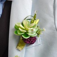 إكليل الزهور الزخرفية لحمي النباتات العريس حزب حفلة موسيقية الزفاف رجل روز البوتيين فروع مزيج الصدار دبوس العريس