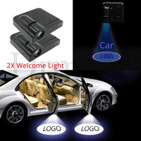 Novo 2 pcs Wireless conduzido Luz de carro da porta de carro bem vinda do projetor laser logotipo sombra fantasma luz para mazda renault peugeot assento skoda volvo opel fiat