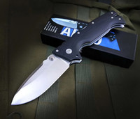 Couteau de pliage en acier froide AD10 Verrouillage à dos Tactical Pocket Camping Couteaux de survie extérieure défensive AD15 AD-10 23GVG C07 26S UT85 UT88 BM42