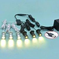 Mini 1W LED Spotlight Dimmable USB 5V für Modellanzeige Counter Wine Cabinet Garage Kit Ausstellungshülle Regal 1 bis 1/4/10 PCs