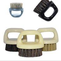 Retro vinger ring borstel plastic zwijn borstels elastische schoonmakende baard modellering gezicht duurzame mannen borstels 2 4MX G2