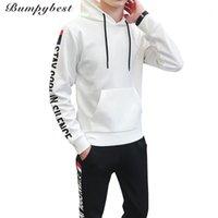 Chándales para hombres BumpyBeast Hombres Ropa deportiva 2021 Primavera Sección de otoño Sudaderas Sudaderas + Pantalones Casual Suéter Sweater Traje D29 M-4XL1