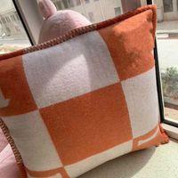 Шерсть H подушка гостиной диван INS подушка подушка диван домой роскошный лошади H подушка подушка 5050см