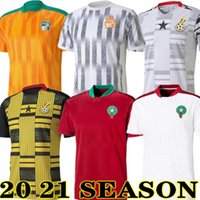 جديد 2020 ساحل العاج غانا المغرب جيرسي 2021 منزل بعيدا أصفر قميص كرة القدم الأحمر