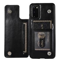 Deri Kapak için Samsung Galaxy S20 Ultra S10 E S9 S8 S7 Kenar Not 8 9 10 Artı Lite Flip Kartları Cüzdan Telefon Kılıfı