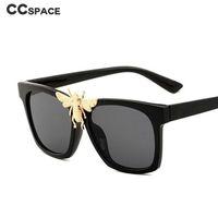47962 Metall Gold Big Bee Sonnenbrille Männer Frauen Fashion Shades UV400 Luxus-Gläser