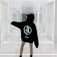 Lindo marinero luna con capucha Streetwear Streetwear Korean Ulzzang Kawaii Sudaderas de la historieta Sudaderas de Streetwear con capucha de gran tamaño