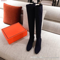 Woman Shoes Tight High Long Boot Knee Boots Winter Socks Boo...